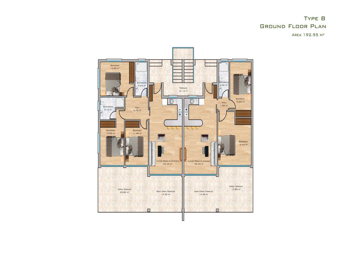 Block B Erdgeschoss