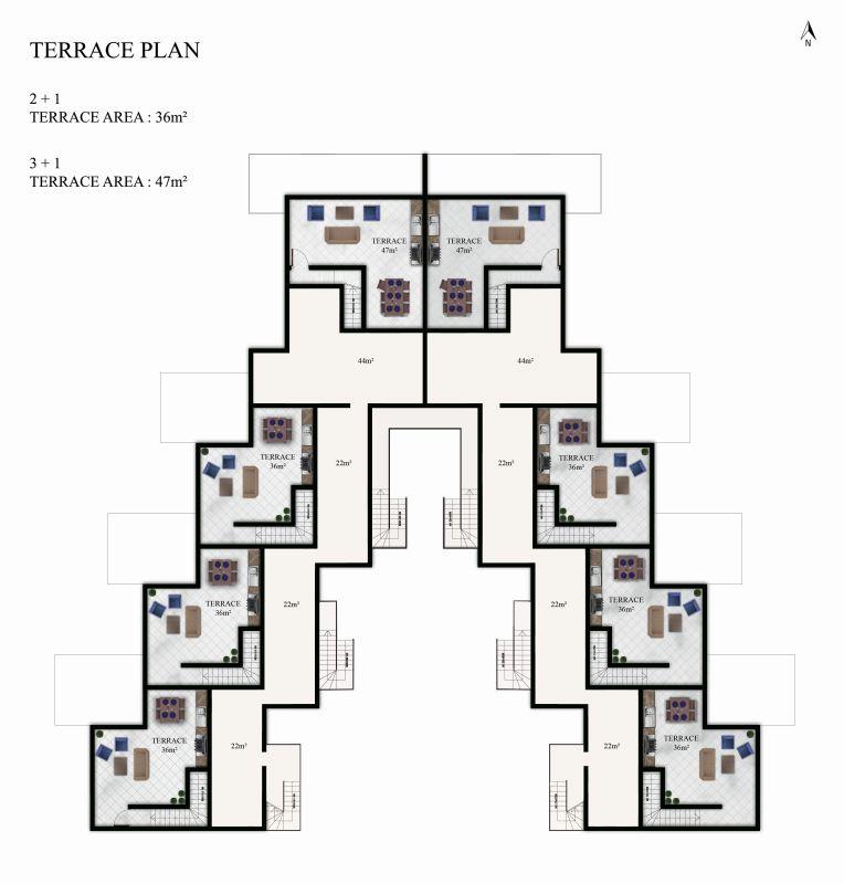 Terrace Plan Front